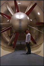 Inside the wind tunnel