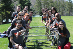 Members of the UMD Steel Bridge Team at the 2013 ASCE Mid-Atlantic Student Conference.