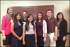 Six 2013 CS Scholars with Dr. Michel Cukier (3rd from left)