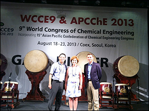 Left to right: Kyu Yong Choi, Maria Burka, and Ray Adomaitis at WCCE9.