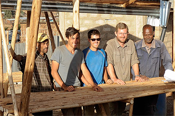 The University of Maryland Engineers Without Borders team in Ethiopia last winter.