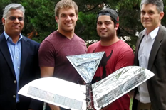 The Robo Raven III team (L-R) S.K. Gupta, Luke Roberts, Ariel Perez-Rosado and Hugh Bruck.