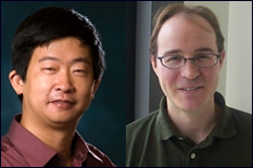 Professor Zhu Han (right) and Professor Wade Trappe (left).