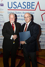 Pictured: USASBE President Pat Dickson, left, and EIP Director Jay Smith.