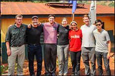 From left to right: Dr. David Lovell, John Sankey, Sam Laiacona, Kathryn Connolly, Sampada Koshatwar, Ed Elder, and Henry Ko.