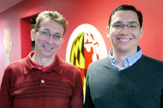 University of Maryland Department of Fire Protection Engineering (FPE) professors Arnaud Trouvé (left) and Michael Gollner (right).