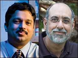 Left: Professor Srinivasa Raghavan. Right: Professor Michael Zachariah.