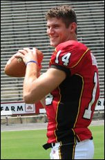 Clark School senior undergrad student Sam Hollenbach prepares for the '06 season.