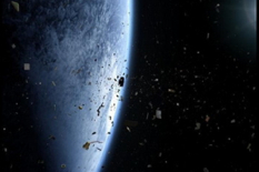 Earth orbit is a junkyard of human-made space clutter.Credit: Space Junk 3D, LLC. Melrae Picture