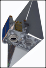 Artistic rendition of the TechDemoSat-1 with sail extended. Image courtesy of SSTL.