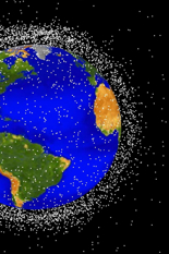 Clean up your room: A NASA rendering of the low Earth orbit debris field