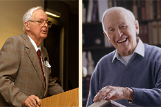 Edward A. Miller, '50 (left) and James W. Plummer, '53 (right).