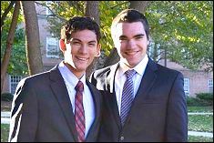 Franz Payer (left) and Kevin Bock (right), both rising sophomores and computer science majors, have developed a competition platform aimed at generating interest in cybersecurity.
