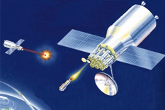 A new Chinese-Russian treaty proposal would ban the placement of weapons in outer space, but doesn't address weapons based on the ground that could destroy satellites. (credit: Defense Department)