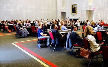 The Riggs Alumni Center was packed with UMD faculty engaged in brain-behavior research. Participants came from the Clark School, CMNS, BSOS, ARHU, Public Health, Public Policy, Agriculture and Natural Resources, the Smith School of Business and many other parts of the university.
