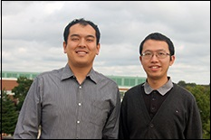 Long Huang, winner of the 2014 AEEE Baltimore Chapter Gary Snead Scholarship, and Suxin Qian, a winner of the 2014 GDF-Suez Chuck Edwards Memorial Fellowship.