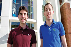 Diagnostic anSERS co-founders Eric Hoppmann (left) and Sean Virgile (right).