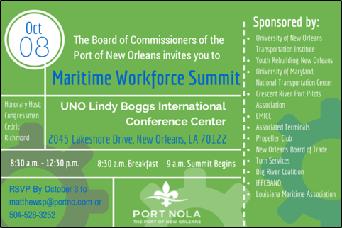 Port of New Orleans Maritime Workforce Summit