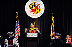 Emily Naviasky was selected as the student speaker for the 2014 A. James Clark School of Engineering Winter Commencement. Photo credit: Al Santos