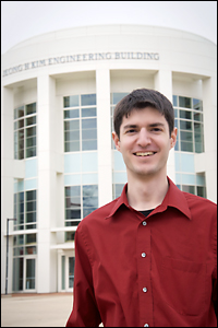 MSE graduate student David Shahin. Photo courtesy of Patrick Stanley.