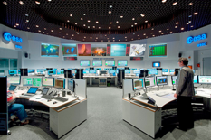 ESOC serves as the Operations Control Centre for ESA missions, and hosts our Main Control Room (shown here), combined Dedicated Control Rooms for specific missions and the ESTRACK Control Centre - which manages our worldwide ground tracking stations. ESOC also hosts facilities for satellite communications, navigation, networks and other special functions. Photo is courtesy of ESA—j. Mai.