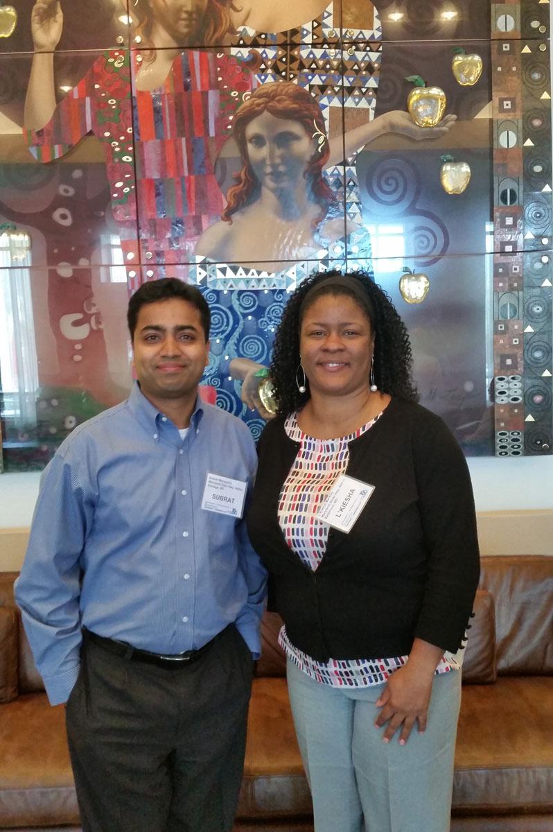 Full size image: 2015 NTC@Maryland Scholarship Winners:Subrat Mahapatra and L'Kiesha Markley