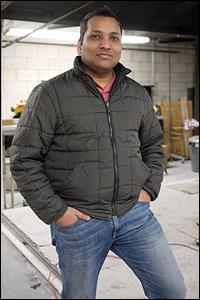 Ph.D. student Ajay Singh.