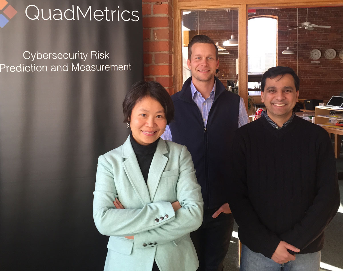 L-R: QuadMetrics Chief Science Officer Mingyan Liu, CEO Wes Huffstutter, and Chief Technology Officer Manish Karir. Images courtesy of QuadMetrics.